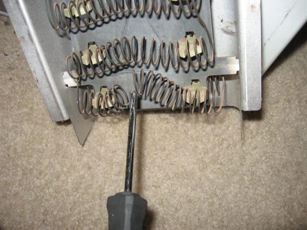 frigidaire dryer heating element