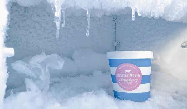 lg freezer not defrosting